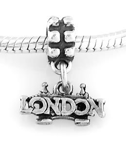 STERLING SILVER DANGLE LONDON BRIDGE EUROPEAN BEAD