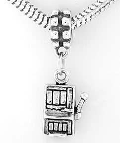 STERLING SILVER DANGLING 3D SLOT MACHINE EUROPEAN BEAD