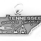STERLING SILVER STATE OF TENNESSEE CHARM/PENDANT