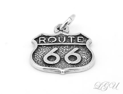 STERLING SILVER ROUTE 66 CHARM/PENDANT