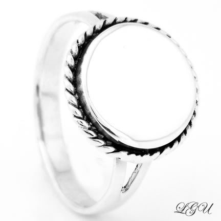 STERLING SILVER CIRCLE ROPED RING SZ 6