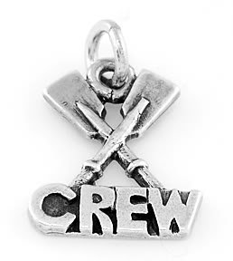STERLING SILVER ROWING CREW CHARM/PENDANT