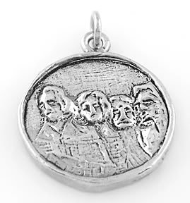 STERLING SILVER MT. RUSHMORE CHARM/PENDANT