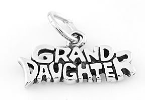 STERLING SILVER GRAND DAUGHTER CHARM/PENDANT