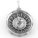 STERLING SILVER ROULETTE WHEEL CHARM/PENDANT