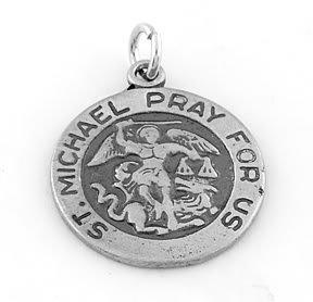 STERLING SILVER SAINT MICHAEL PRAY FOR US CHARM/PENDANT