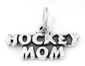 STERLING SILVER HOCKEY MOM CHARM/PENDANT