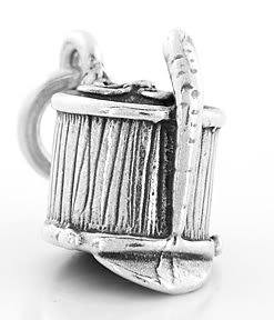 STERLING SILVER 3D MARCHING BAND / MAJOR HAT CHARM/PENDANT
