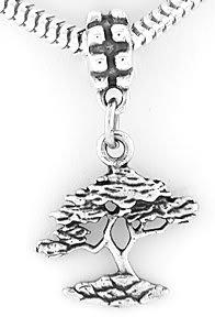 STERLING SILVER DANGLE BONSAI TREE/TREE OF LIFE BEAD EUROPEAN BEAD