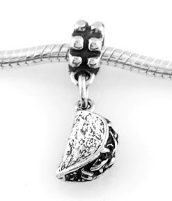 STERLING SILVER DANGLING TACO EUROPEAN BEAD