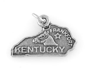 STERLING SILVER STATE OF KENTUCKY CHARM/PENDANT