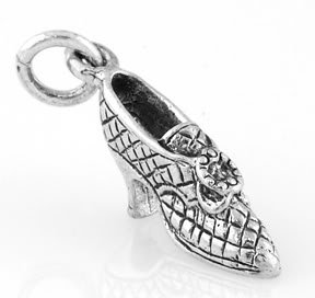 STERLING SILVER VICTORIAN STYLE HIGH HEEL CHARM/PENDANT