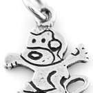 STERLING SILVER CRAZY MONKEY CHARM/PENDANT