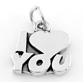 STERLING SILVER I LOVE YOU CHARM/PENDANT