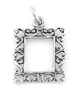 STERLING SILVER PICTURE FRAME CHARM/PENDANT