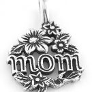 STERLING SILVER MOM WITH DAISES CHARM/PENDANT