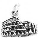 STERLING SILVER ROME COLISEUM CHARM/PENDANT