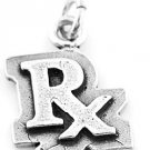 STERLING SILVER RX PHARMACIST CHARM/PENDANT