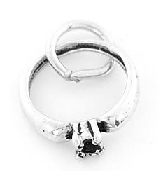STERLING SILVER ENGAGEMENT RING CHARM/PENDANT
