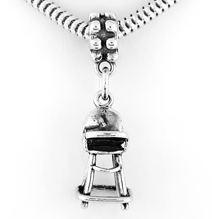 STERLING SILVER DANGLING BABY HIGH CHAIR EUROPEAN BEAD