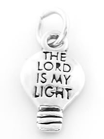 STERLING SILVER THE LORD IS MY LIGHT CHARM/PENDANT