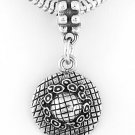 STERLING SILVER DANGLE GARDENING/SUMMER HAT EUROPEAN BEAD