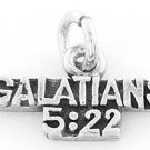 STERLING SILVER GALATIANS 5:22 CHARM/PENDANT