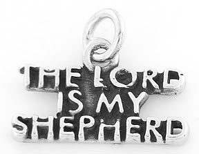 STERLING SILVER THE LORD IS MY SHEPHERD CHARM/PENDANT