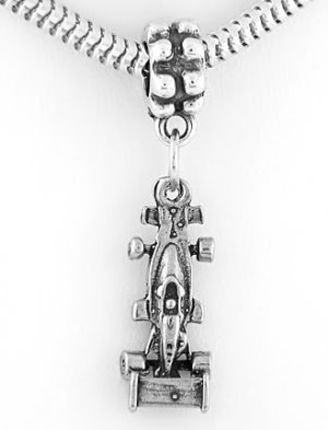 STERLING SILVER DANGLING INDY RACE CAR EUROPEAN BEAD