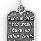 STERLING SILVER EXODUS 20:3 TEN COMMANDMENT #1 CHARM/PENDANT