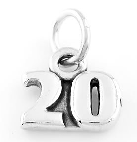 STERLING SILVER 20 YEARS CHARM/PENDANT