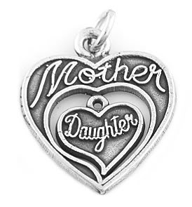 STERLING SILVER MOTHER DAUGHTERS CHARM PENDANT