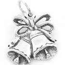 STERLING SILVER WEDDING BELL CHARM/PENDANT