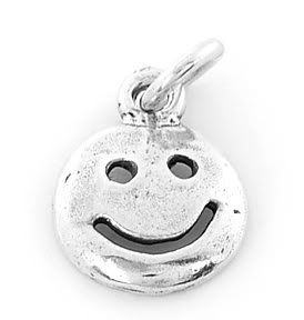 STERLING SILVER SMILE FACE CHARM