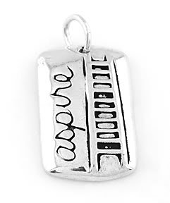 STERLING SILVER ASPIRE LADDER CHARM/PENDANT