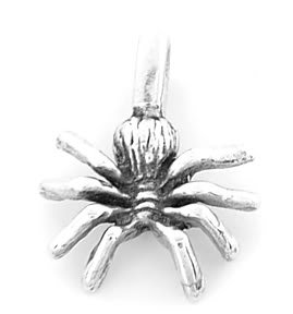 STERLING SILVER SPIDER CHARM/PENDANT