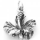 STERLING SILVER HIBISCUS CHARM/PENDANT