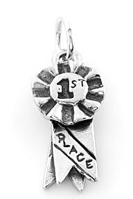 STERLING SILVER 1ST PLACE RIBBON CHARM