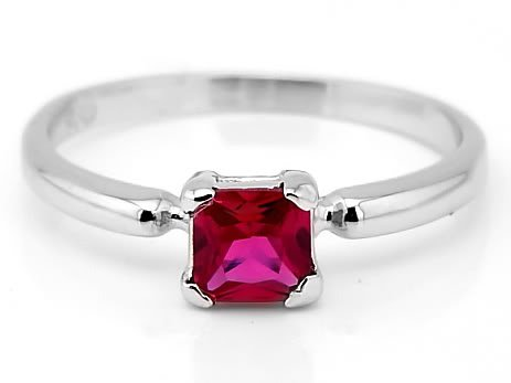 STERLING SILVER JULY BIRTHSTONE CZ CHILD RING SZ 6