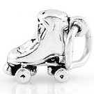 STERLING SILVER 3D SMALL ROLLER SKATE CHARM/PENDANT