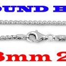 """STERLING SILVER 1.8mm ITALIAN ROUND BOX CHAIN 20"""" NECKLACE"""