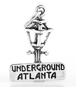 STERLING SILVER 3D UNDERGROUND ATLANTA CHARM/PENDANT