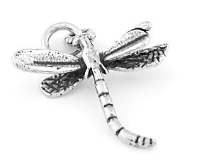 STERLING SILVER 3D DRAGONFLY CHARM/PENDANT