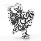 STERLING SILVER 3D WILD TURKEY CHARM/PENDANT