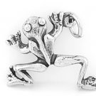 STERLING SILVER LEAPING FROG CHARM/PENDANT