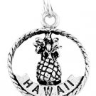STERLING SILVER HAWAII ALOHA PINEAPPLE CHARM/PENDANT