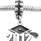 STERLING SILVER CLASS OF 2012 GRADUATION EUROPEAN BEAD