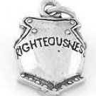 STERLING SILVER 3D ARMOR OF GOD-BREASTPLATE CHARM