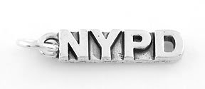 STERLING SILVER NYPD CHARM/PENDANT