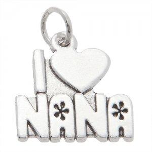 Sterling Silver I love Nana Charm/Pendant